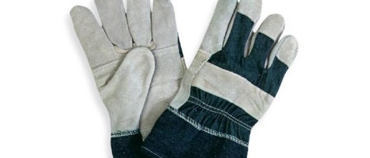 Guanto crosta dorso jeans